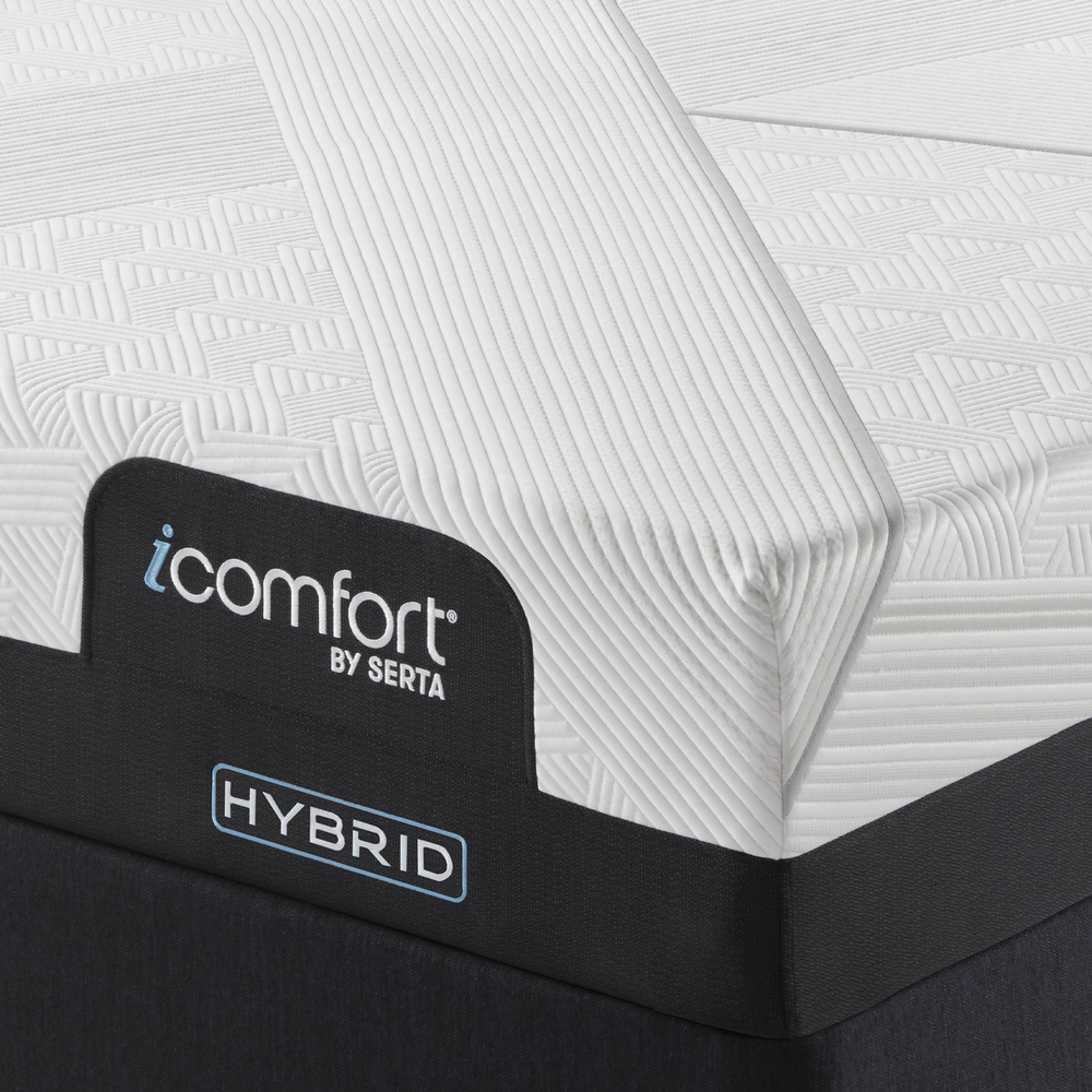 Serta Mattress - iComfort CF1000 Non-Quilted Hybrid Medium Mattress with Low Profile Box Spring