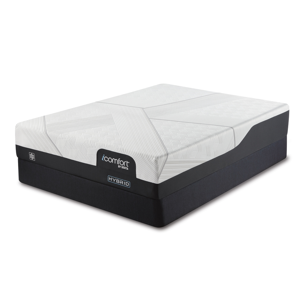 Serta Mattress - iComfort CF1000 Non-Quilted Hybrid Medium Mattress with Standard Box Spring