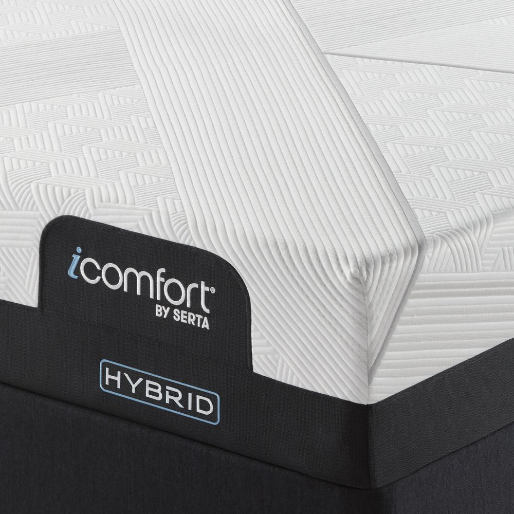 Serta Mattress - iComfort CF1000 Non-Quilted Hybrid Medium Mattress with Standard Box Spring