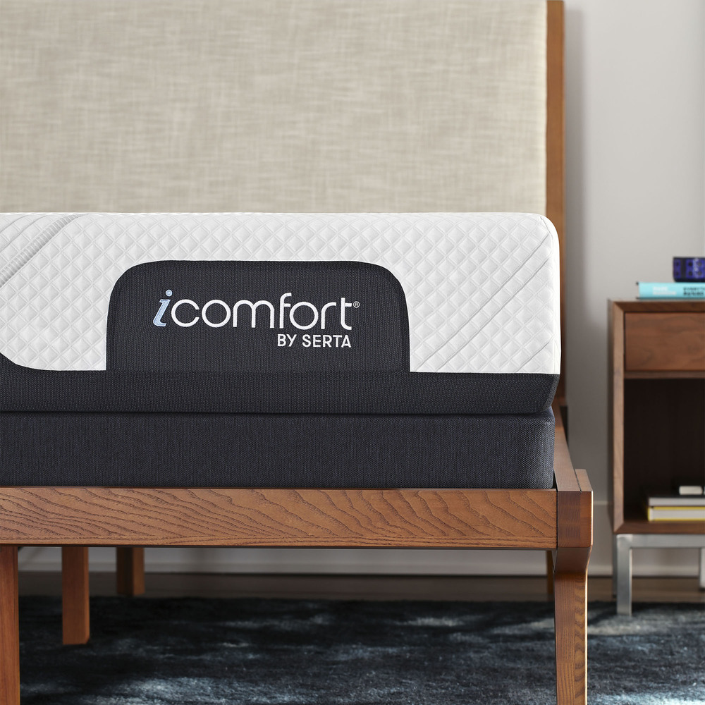 Serta Mattress - iComfort Foam CF1000 Medium Mattress with Low Profile Box Spring