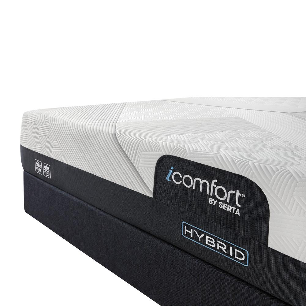 Serta Mattress - iComfort CF2000 Non-Quilted Hybrid Firm Mattress with Standard Box Spring