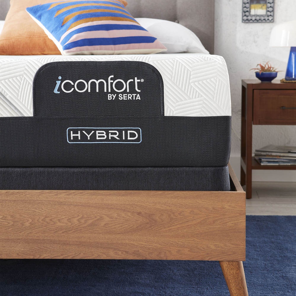 Serta Mattress - iComfort CF2000 Non-Quilted Hybrid Firm Mattress with Motion Perfect IV Adjustable Base