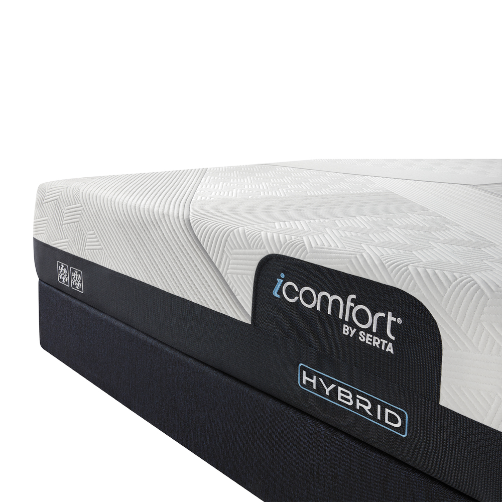 Serta Mattress - iComfort CF2000 Non-Quilted Hybrid Firm Mattress with Standard Box Spring
