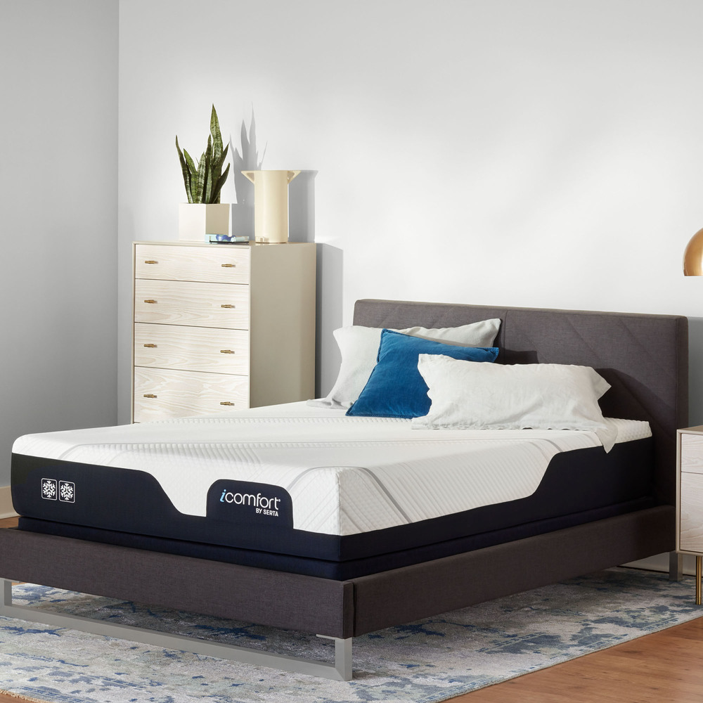 Serta Mattress - iComfort Foam CF2000 Firm Mattress with Low Profile Box Spring