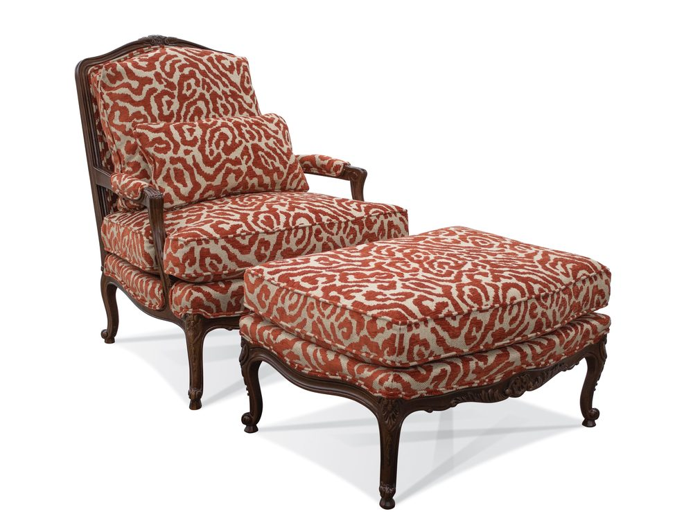 Sherrill Furniture Company - Benchair and End Ottoman