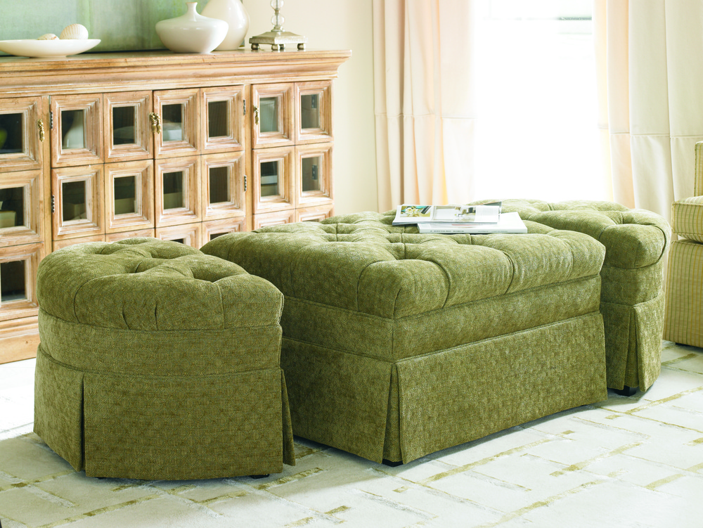 Sherrill Furniture Company - Two End Ottomans and Center Ottoman