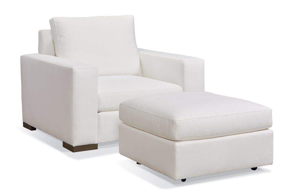 Sherrill Furniture Company - Chair and Sectional Ottoman