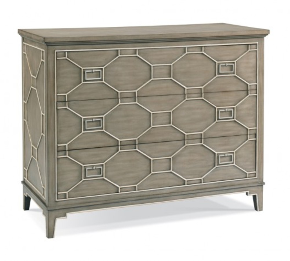 CTH-Sherrill Occasional - Drawer Chest with Fret Work