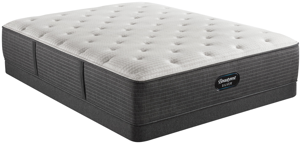 Beautyrest - BRS900-C Silver Plush Mattress with Low Profile Box Spring