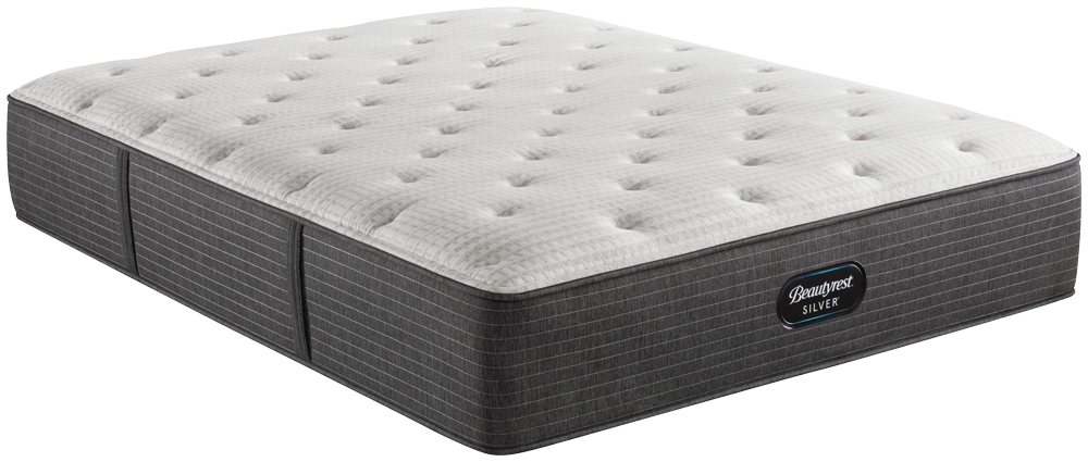 Beautyrest - BRS900-C Silver Plush Mattress with BR Black Luxury Motion Base