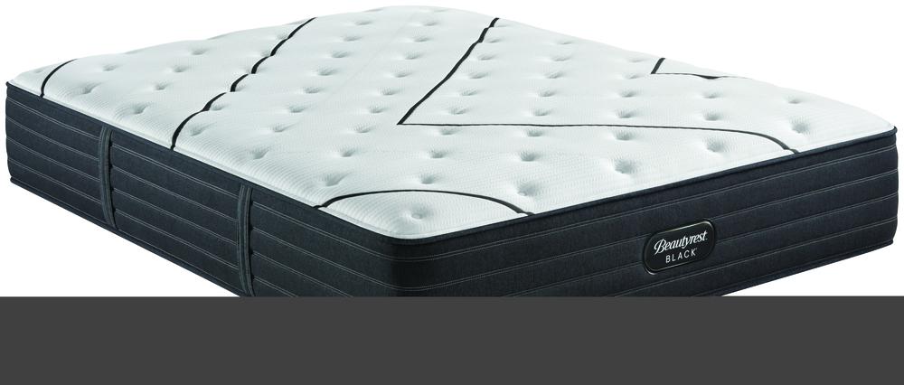 Beautyrest - BR Black L Class Plush Mattress with BR Black Luxury Motion Base