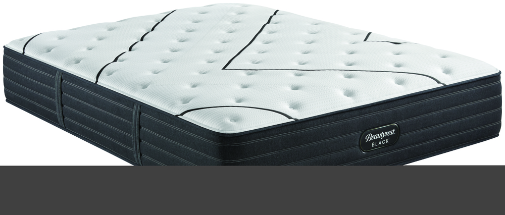 Beautyrest - BR Black L Class Plush Mattress with Low Profile Box Spring