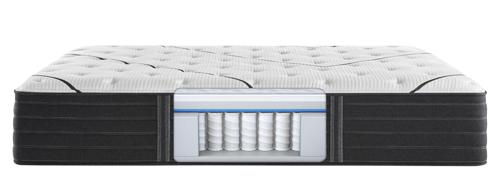 Beautyrest - BR Black L Class Medium Mattress with BR Black Luxury Motion Base