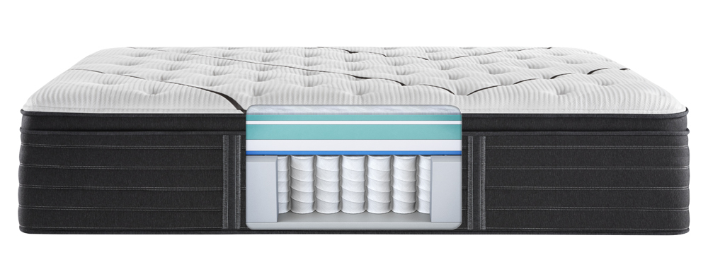 Beautyrest - BR Black L Class Plush PT Mattress with Low Profile Box Spring