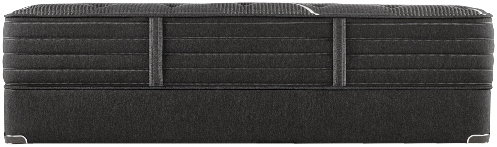 Beautyrest - BR Black C Class Medium Mattress with Low Profile Box Spring