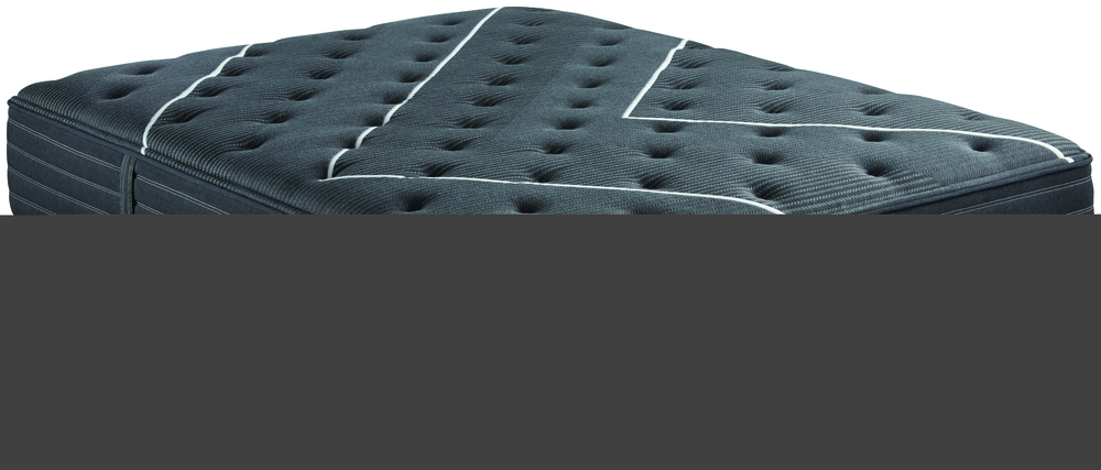 Beautyrest - BR Black C Class Plush Mattress with BR Black Luxury Motion Base