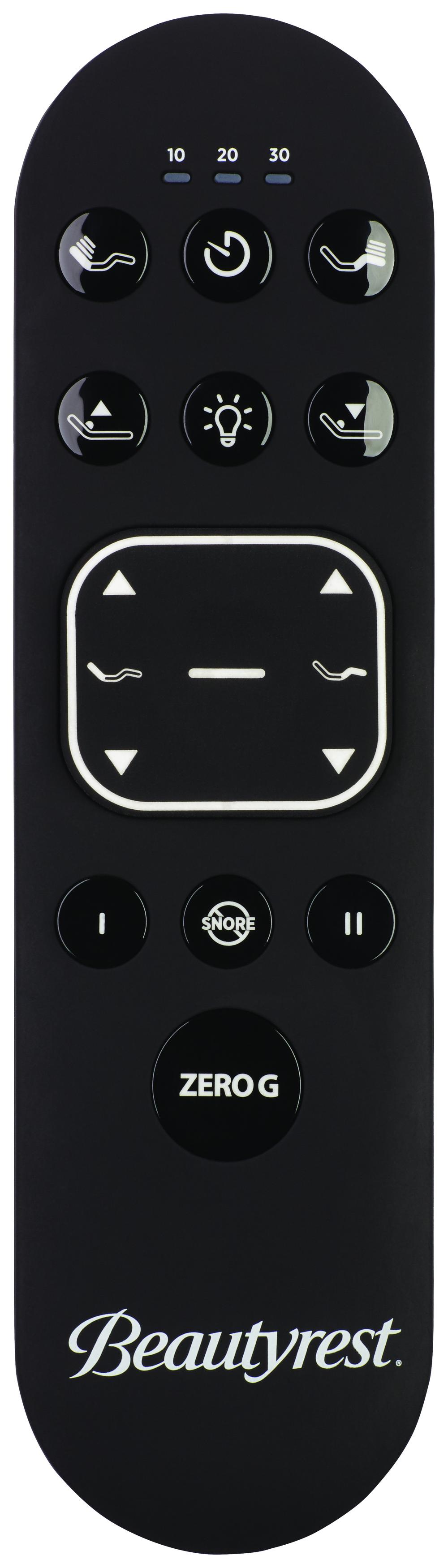 Beautyrest - BR Black C Class Plush Mattress with BR Black Luxury Motion Base