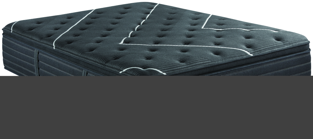 Beautyrest - BR Black C Class Plush PT Mattress with Low Profile Box Spring