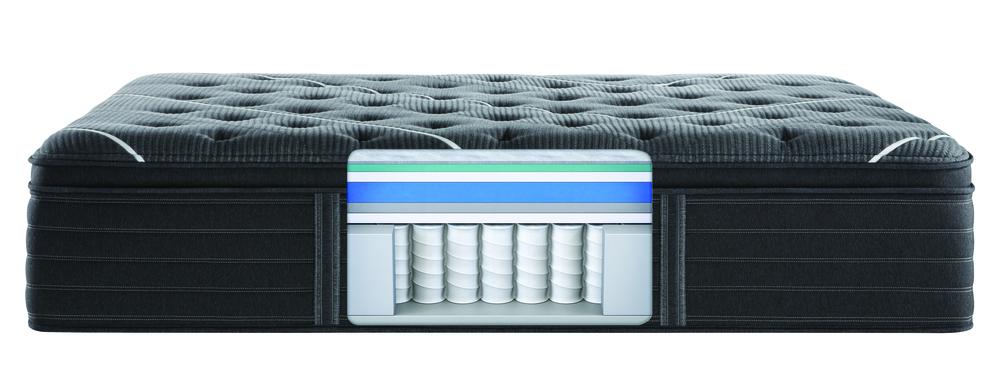 Beautyrest - BR Black C Class Plush PT Mattress with BR Advanced Motion Base