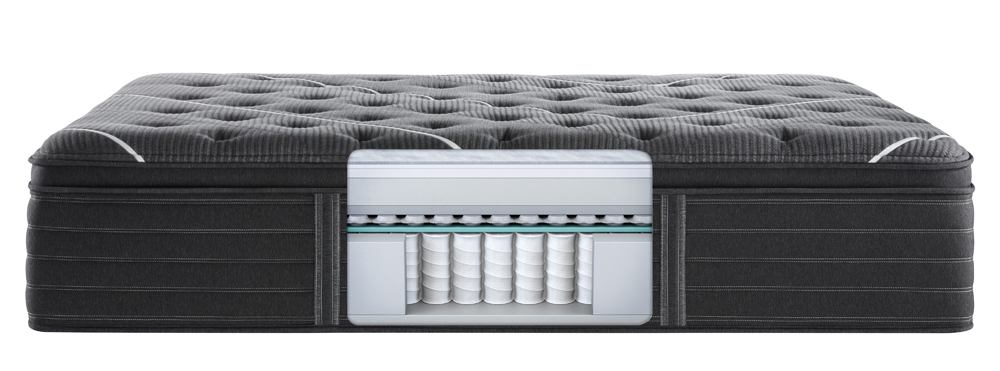 Beautyrest - BR Black K Class Firm PT Mattress with BR Black Luxury Motion Base