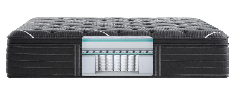 Beautyrest - BR Black K Class Ultra Plush PT Mattress with BR Black Luxury Motion Base