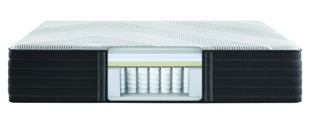 Beautyrest - Beautyrest Black X Class Hybrid Firm Mattress with Low Profile Box Spring