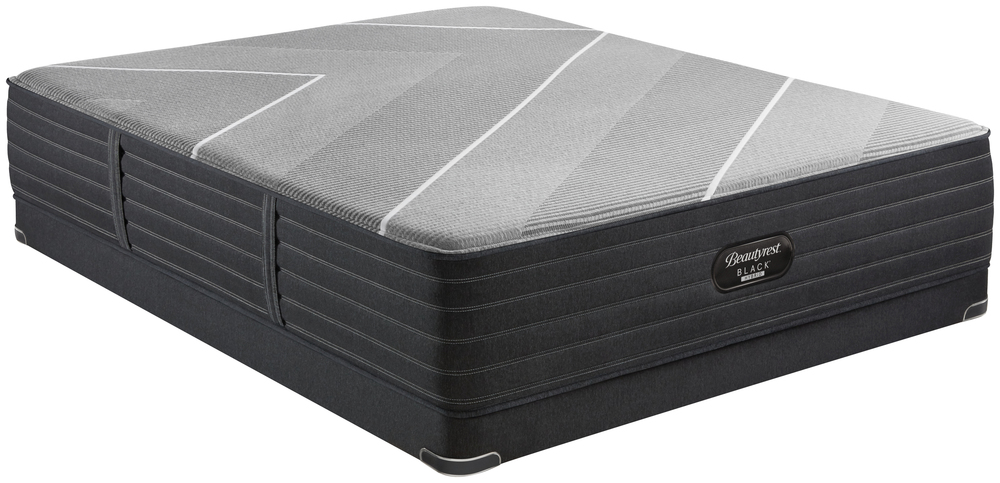 Beautyrest - Beautyrest Black X Class Hybrid Ultra Plush Mattress with Low Profile Box Spring