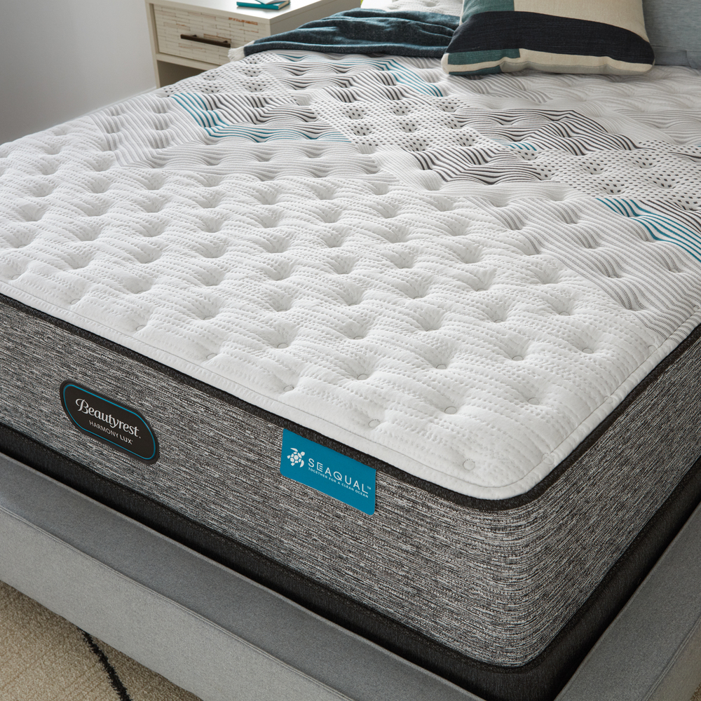 Beautyrest - Beautyrest Harmony Lux Carbon Extra Firm Mattress with Low Profile Box Spring