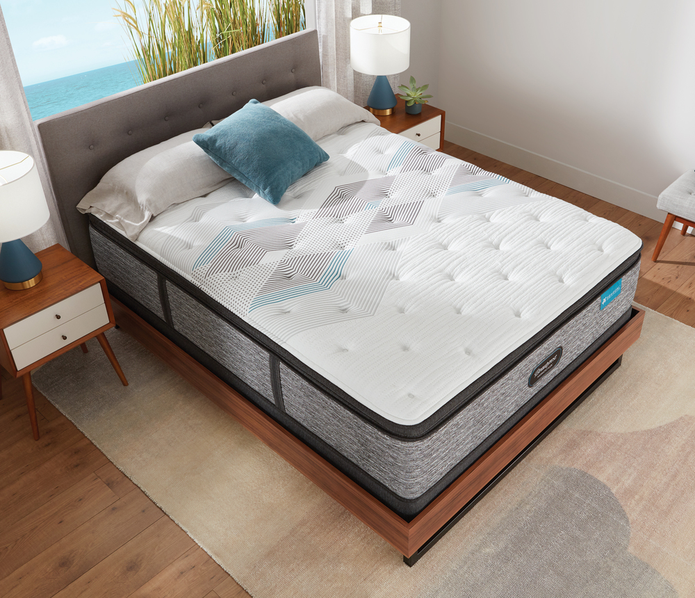 Beautyrest - Beautyrest Harmony Lux Carbon Medium Pillowtop Mattress with Low Profile Box Spring