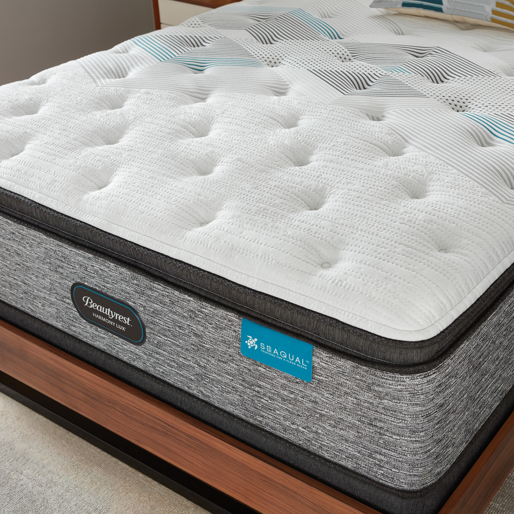 Beautyrest - Beautyrest Harmony Lux Diamond Ultra Plush Pillowtop Mattress with Low Profile Box Spring