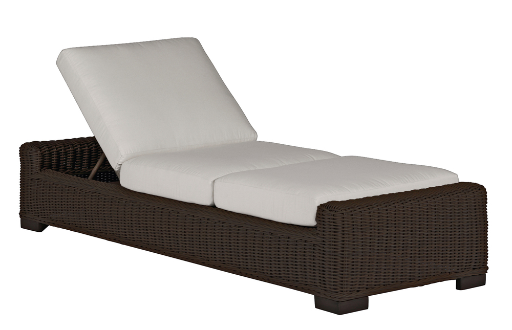 Summer Classics - Rustic Woven Chaise Lounge
