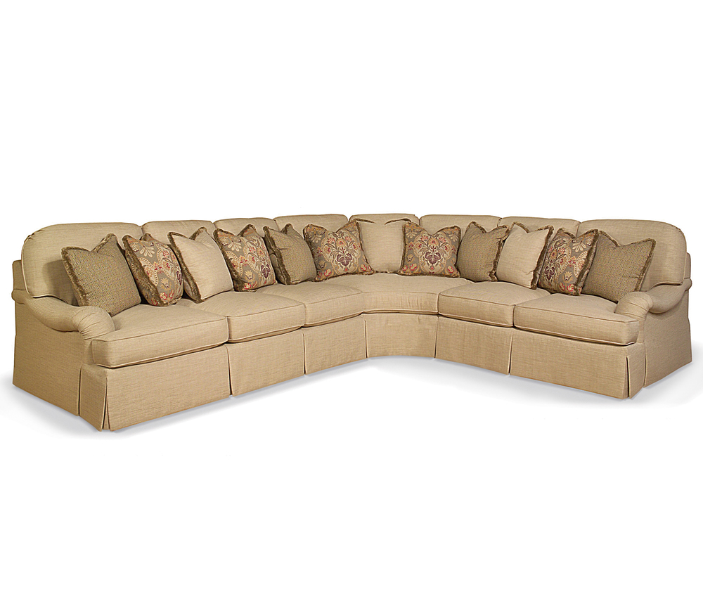 Taylor King Fine Furniture - Sofa Quarter Turn and Loveseat Sectional