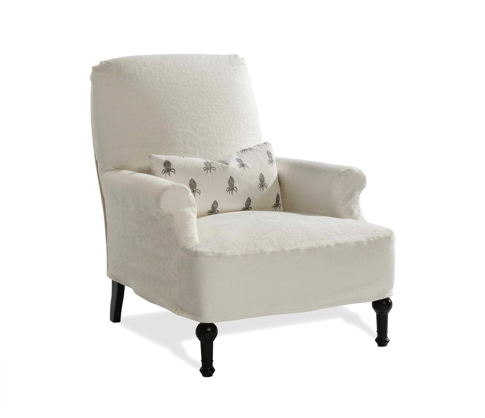 Taylor King Fine Furniture - Thinking Mini Slipcover Chair