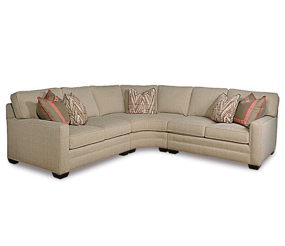 Taylor King Fine Furniture - Loveseat Quarter Turn and Loveseat Sectional