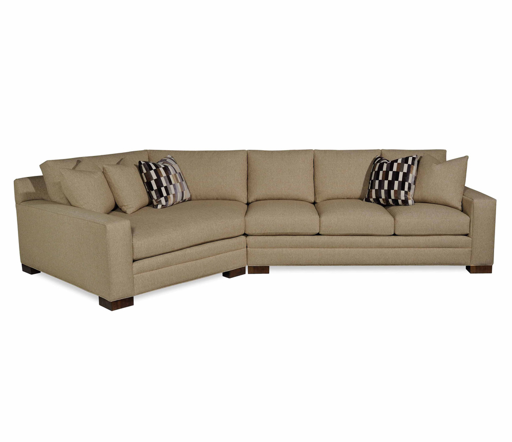 Taylor King Fine Furniture - Sofa and Cuddle Chaise Sectional
