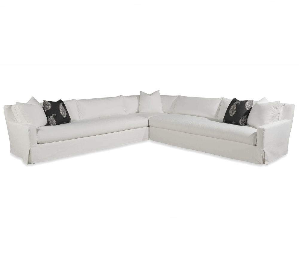 Taylor King Fine Furniture - Cavalier Slipcovered Sectional