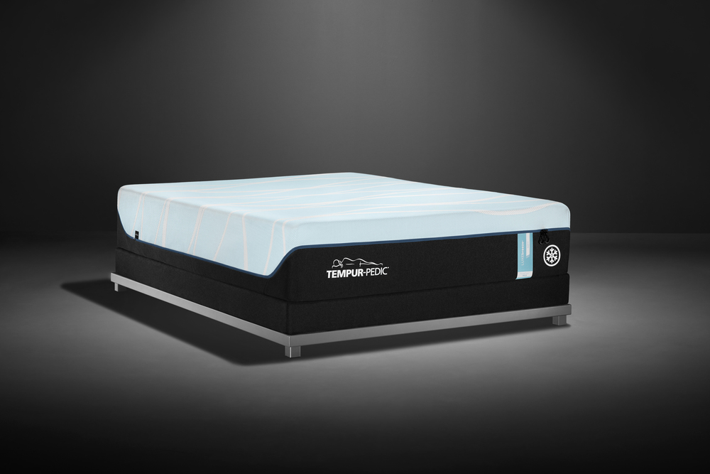 Tempur-Pedic - LuxeBreeze Soft Mattress with Low Profile Box Spring
