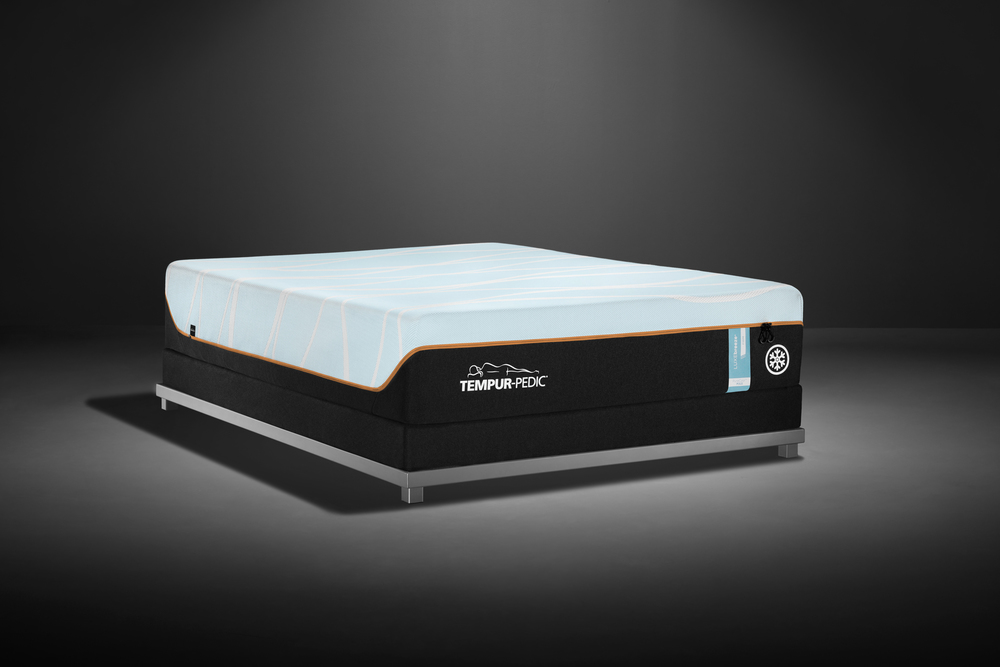 Tempur-Pedic - LuxeBreeze Firm Mattress with Low Profile Box Spring