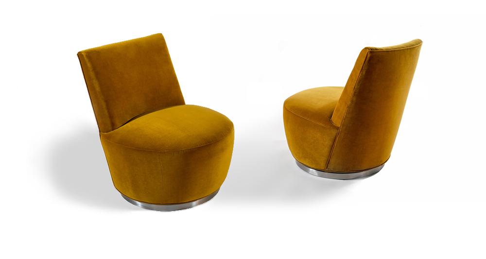Thayer Coggin - Armless Swivel Chair