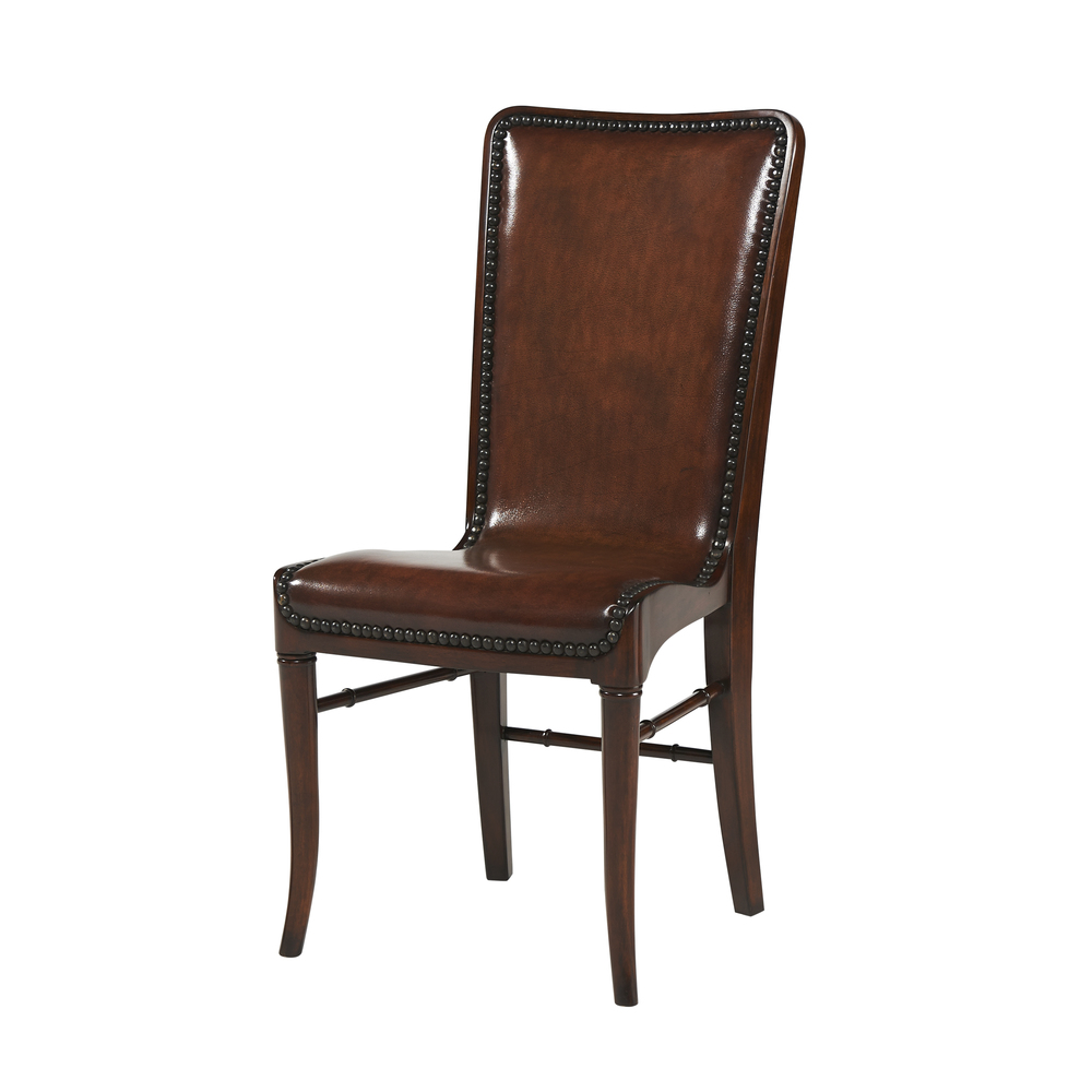 Theodore Alexander - Leather Sling Dining Chair