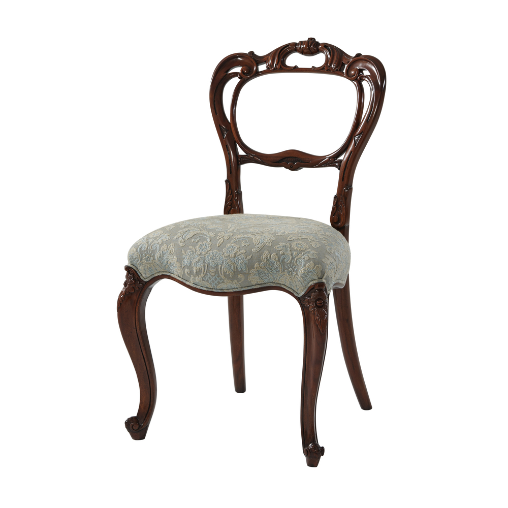 Theodore Alexander - Hand Carved Buckle Back Side Chair