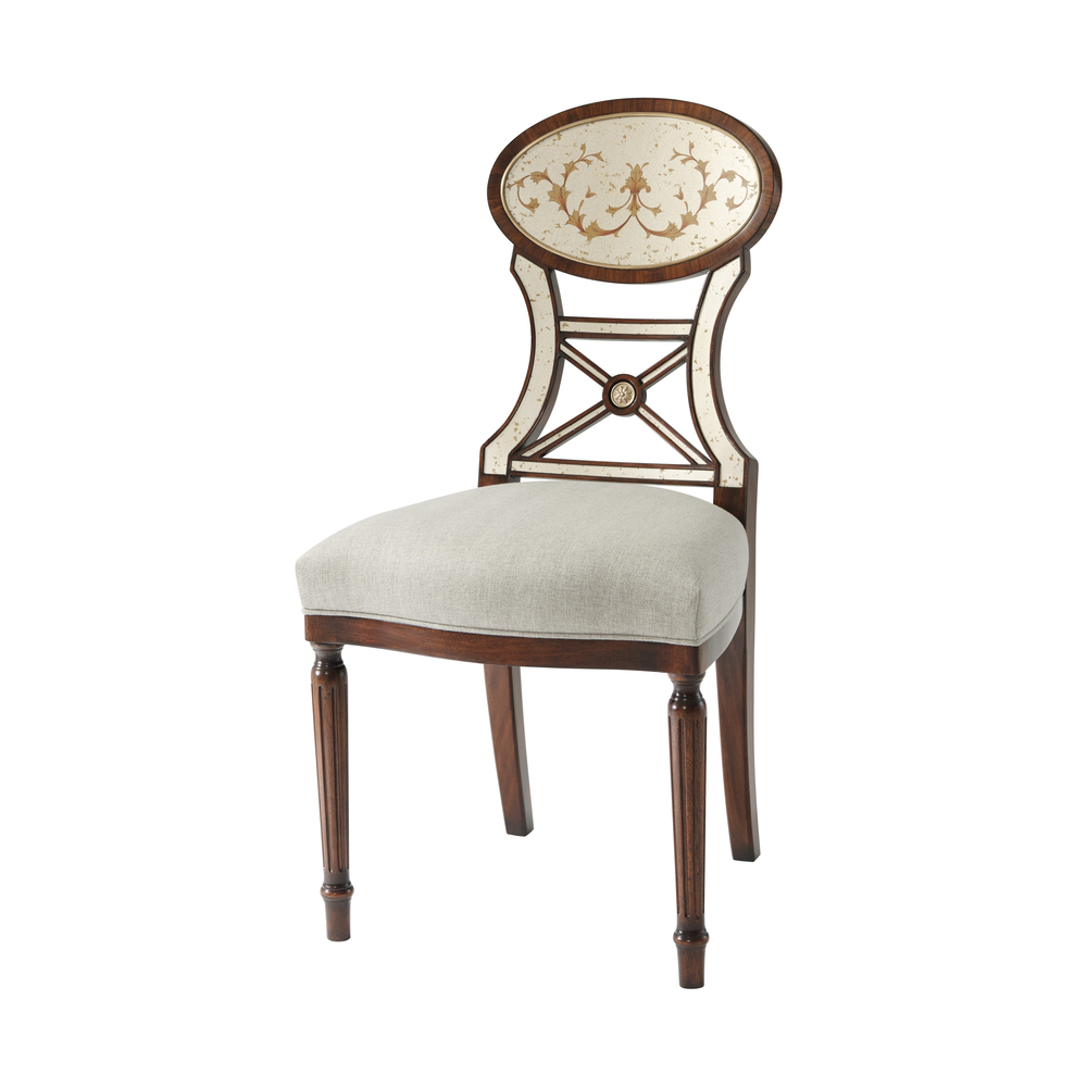 THEODORE ALEXANDER - Eglomise Accent Side Chair