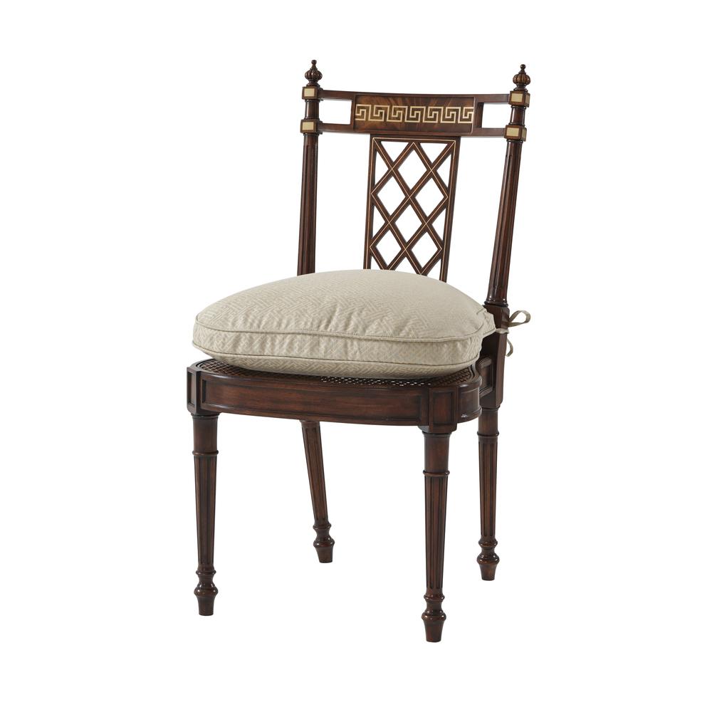 THEODORE ALEXANDER - Greek Key Side Chair