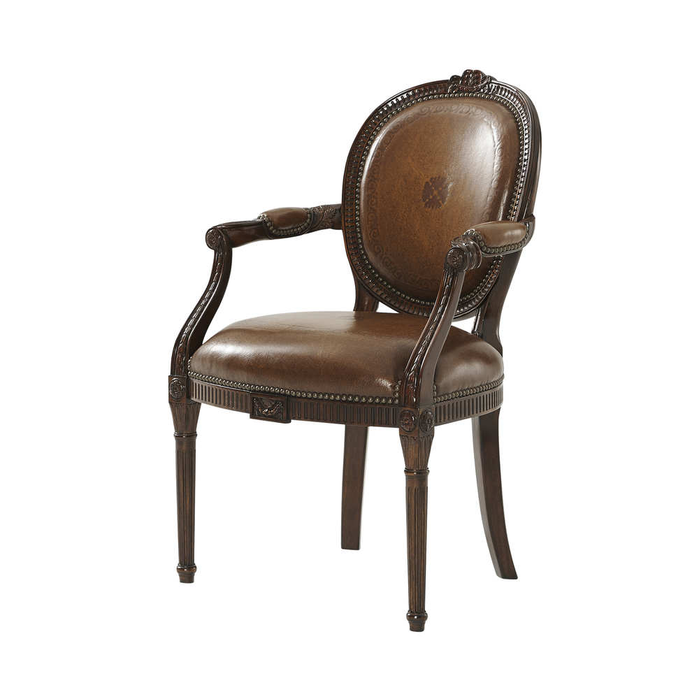 THEODORE ALEXANDER - A Hand Carved Neo-Classical Arm Chair