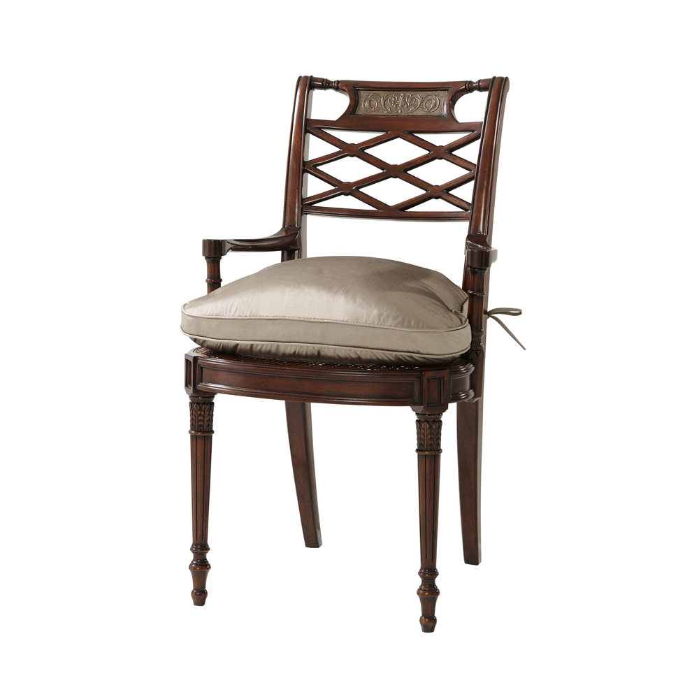 Theodore Alexander - Adorned with Silk Bows Arm Chair