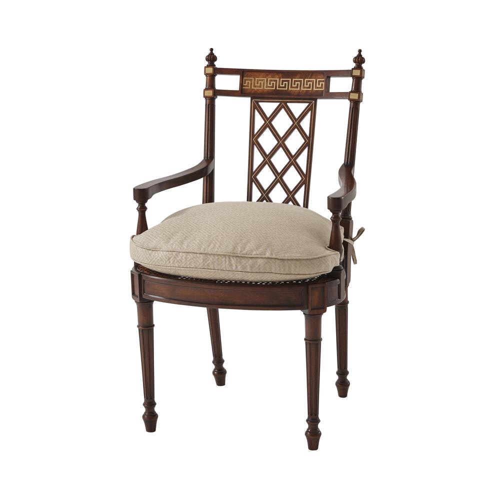 THEODORE ALEXANDER - Greek Key Arm Chair