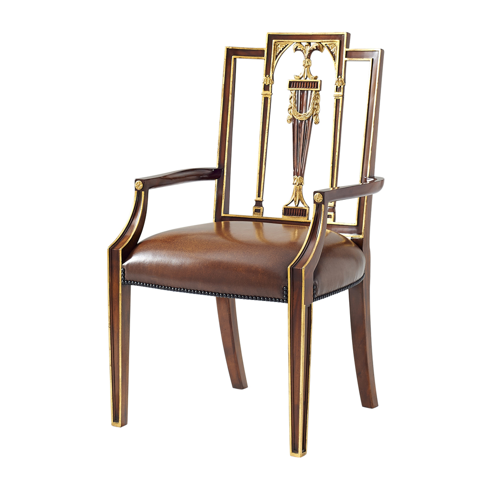THEODORE ALEXANDER - Formal Lines Arm Chair