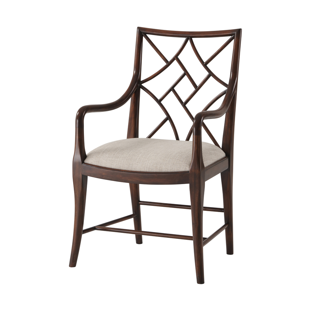 Theodore Alexander - A Delicate Trellis Arm Chair