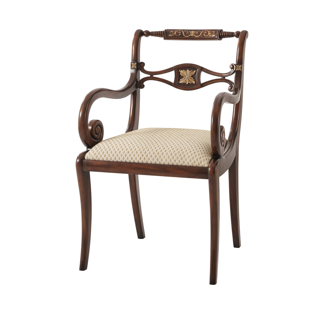 Theodore Alexander - This Includes a Lyre Arm Chair