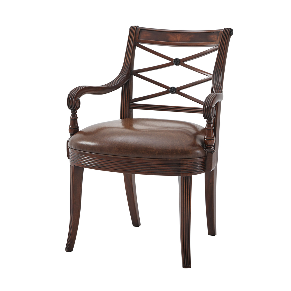 THEODORE ALEXANDER - The Regency Visitor's Arm Chair